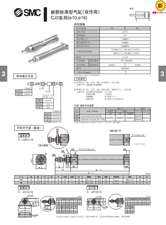 smc标准气缸的应用领域有印刷(张力控制)