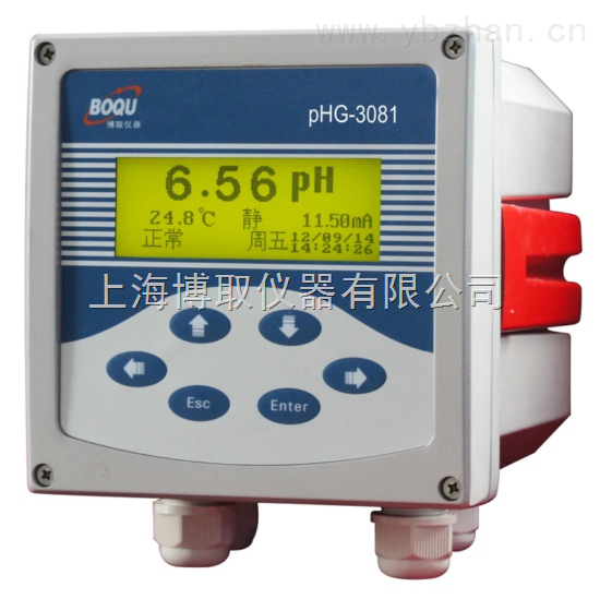 PHG-3081-铸铝壳体在线PH计,中英文工业酸度计生产厂家
