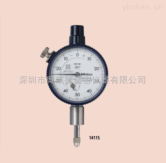 日本mitutoyo三丰高精度指针式千分表指示表1411s进口