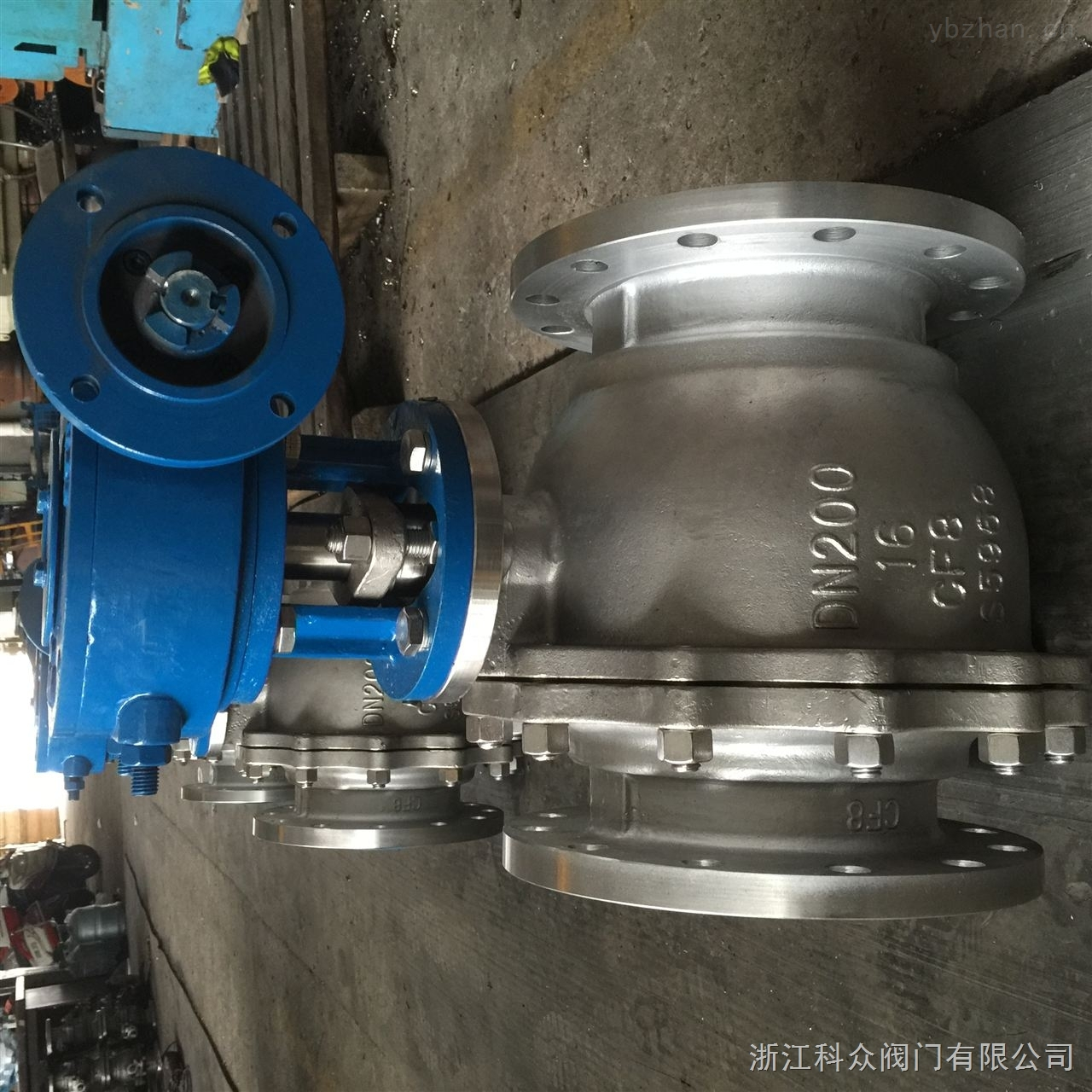 Q347Y-16P-涡轮硬密封固定球阀发货