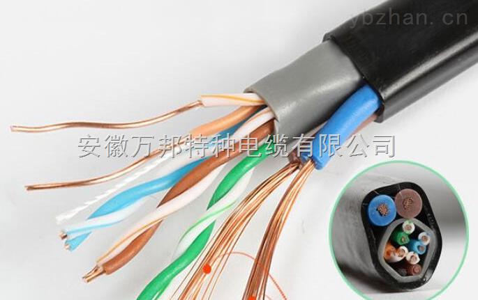 RVV-2*1.0+网线组合电缆