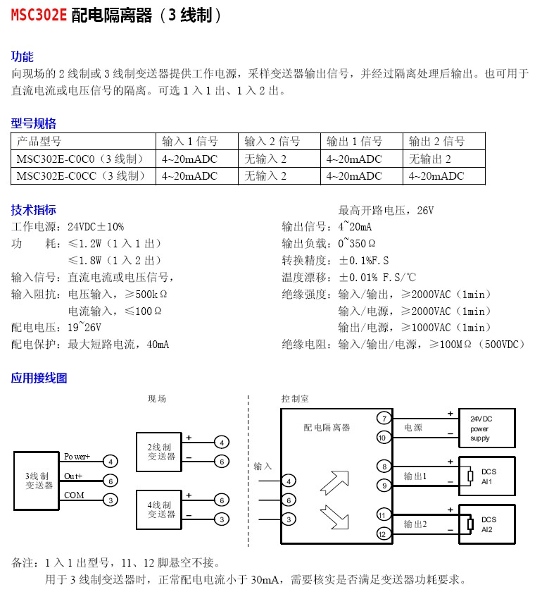 msc302e-配电隔离器