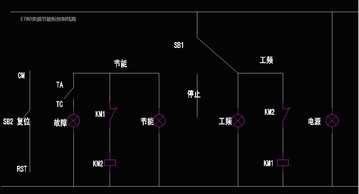 图二压铸机e680变频节能柜控制电路框图