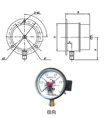 yxc-100电接点压力表yx-150b-fz