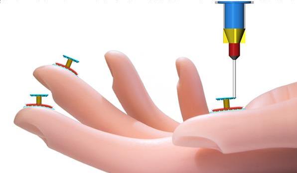 """研究人员研发可3D打印在人手上的硅胶压力传感器""""/"""